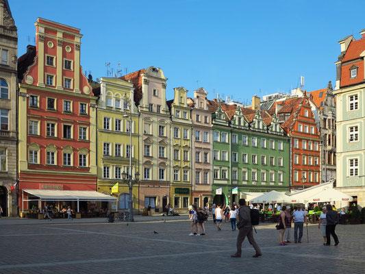 Giebelhäuser der Westseite des Rynek