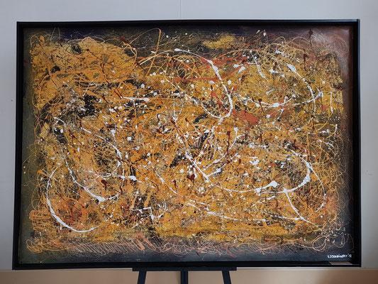 Kunstausstellung in der Casa de la Cultura: La Batalla de Tamasite von Lechadinsky (Carlos Francisco Lechado Hernández), 2013