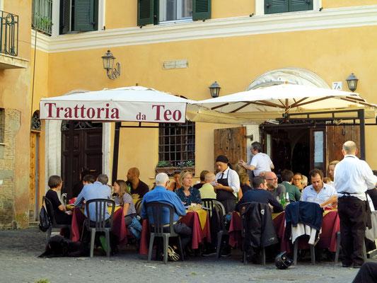 Trattoria da Teo in Trastevere, mit römischer Küche