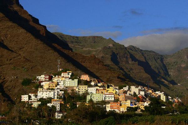 Valle Gran Rey, Blick nach NO auf die Ortschaft La Calera