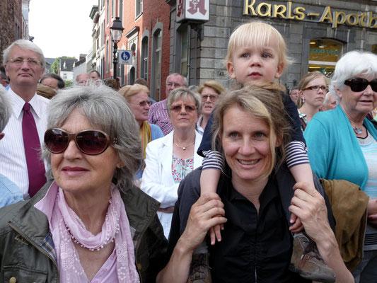 CHIO Stadtfest, Almut Rother, Kerstin Rother-Schäfer mit Alexander