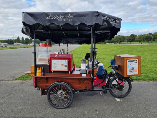 Coffee-Bike, der mobile Coffee Shop auf dem Tempelhofer Feld