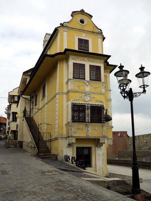 Fußweg an der Straße Zidovská zur Burg Bratislava