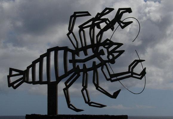 Skulptur des blinden Albinokrebses, gestaltet von César Manrique