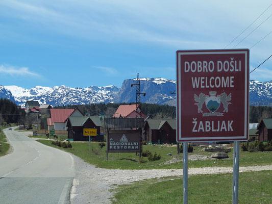Willkommen in Žabljak im Durmitorgebirge