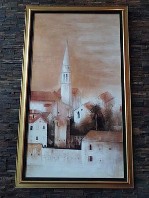Hotel Splendid, Gemälde von Budva in der Lobby