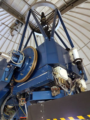 Innenleben eines Teleskops zur nächtlichen Sternenbeobachtung