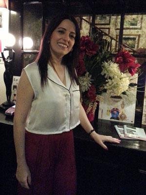 Fado-Sängerin Cristina Madeira im Clube de Fado, Lissabon