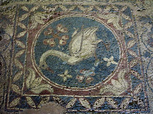 Mosaik eines Schwans aus dem 4. Jahrhundert, Basilika von Soli