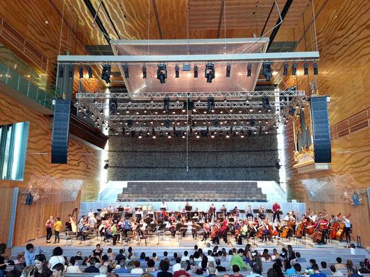 Casa da Música, Großer Saal, kurz vor der Aufführung der 9. Sinfonie von Gustav Mahler