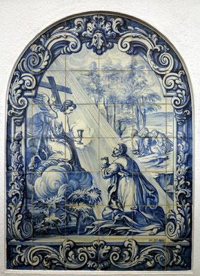 Azulejo mit Darstellung aus dem Leben von Jesus Christus; im Garten Gethsemane
