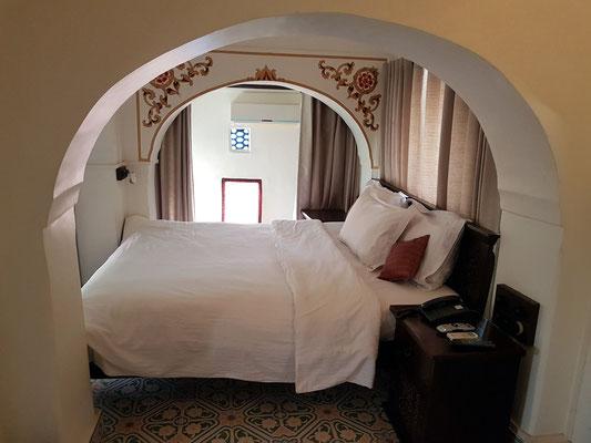 Heritage Hotel Surajgarh Fort, mein Zimmer im Gebäude der Prinzessin, Dachgeschoss Nr. 24