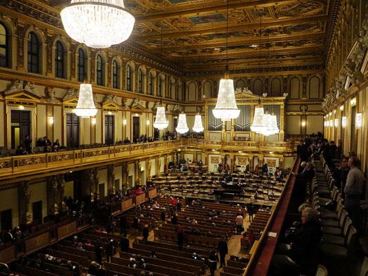 Großer Saal des Wiener Musikvereins, Blick von der Empore