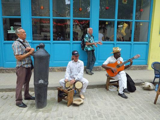 Straßenmusiker auf der Calle Obispo