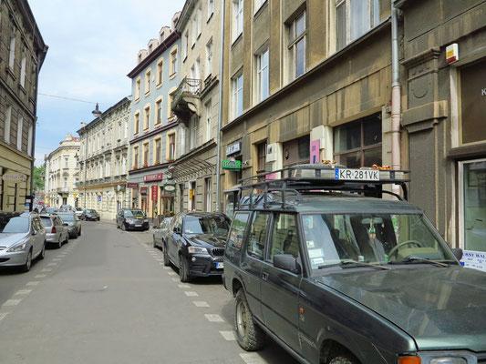 Beginn der Straße Miodowa
