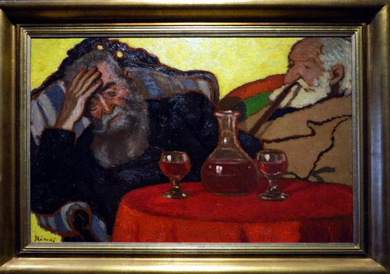 József Rippl-Rónai: Mein Vater und Onkel Piacsek trinken Rotwein, 1907
