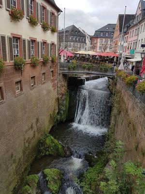 Saarburg, Wasserfall des Baches Leuk