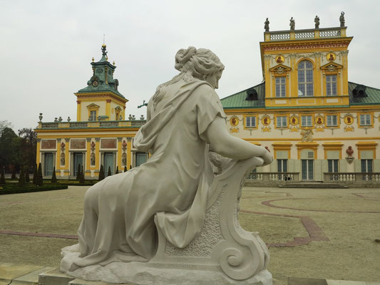 Wilanów-Palast, Parkseite