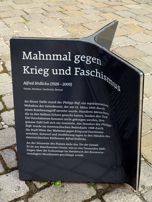 Helmut-Zilk-Platz, Mahnmal gegen Krieg und Faschismus