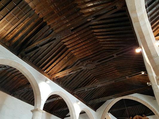 Betancuria, Iglesia de Santa María Betancuria, Deckenkonstruktion