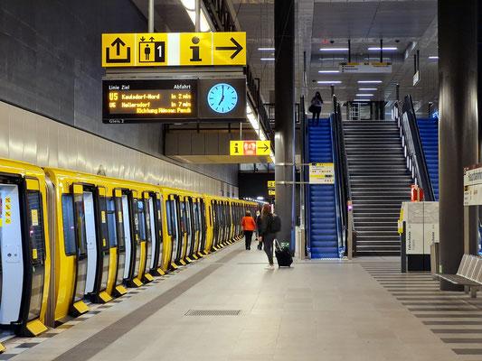 U-Bahnhof im Untergeschoss des Hauptbahnhofs