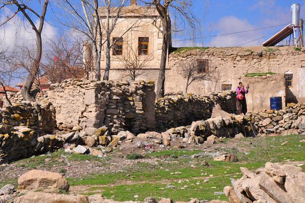 Ortschaft Saratli mit der unterirdischen Stadt