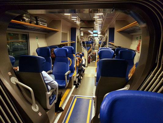 Im Leonardo Express vom Airport Fiumicino nach Roma Termini