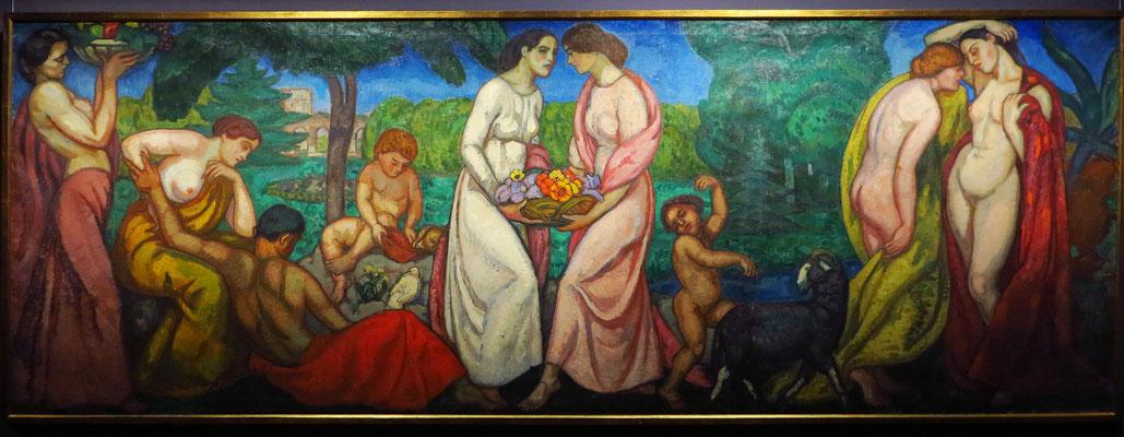 Béla Iványi Grünwald: Sommer (Wandbild der Schiffer-Villa), 1911