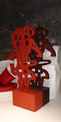 In der Roten Blase: Skulptur La mujer y su Sombra, 1990