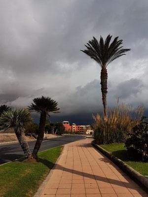 Costa Calma vor einer Regenfront von Norden