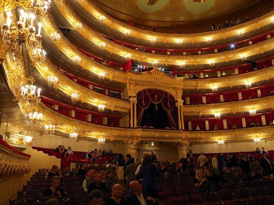 Bolshoi-Theater, Zuschauerraum mit Parkett und Rängen