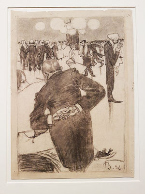 Ballpause, 1896. Feder über Kohle auf Zeichenkarton
