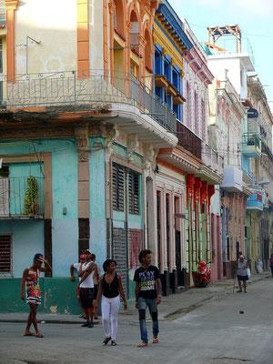 Typische Straße im Centro Habana