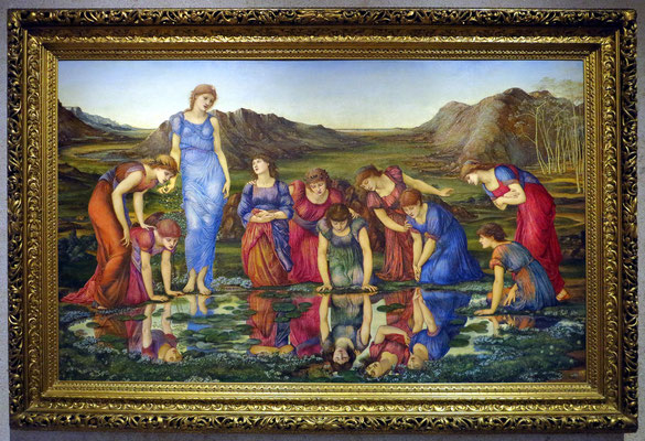 Museu Calouste Gulbenkian; Sir Edward Burne-Jones: The Mirror of Venus, England 1877, Öl auf Leinwand