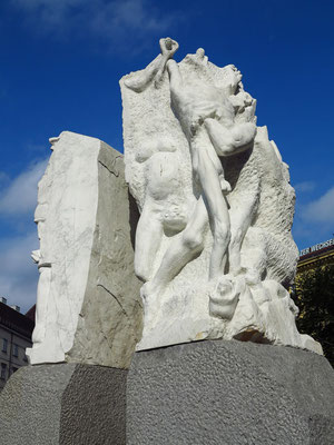 Mahnmal gegen Krieg und Faschismus (Alfred Hrdlicka), Skulptur am Tor der Gewalt