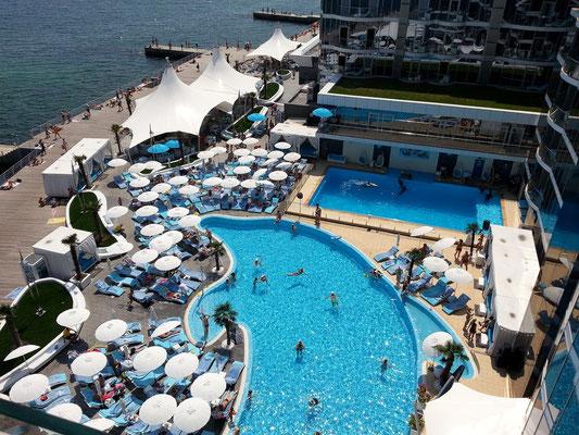 Hotel Nemo, Blick vom Dachgarten