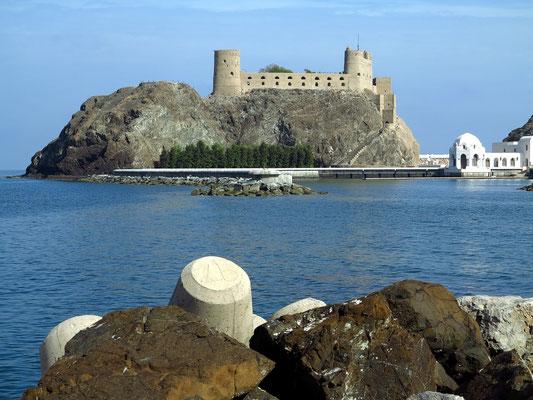 Festung Al Jalali. Gemeinsam mit der Festung Mirani war sie einst Teil der Stadtmauer.