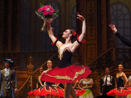 Primaballerina Cristina Terentiev nach der Aufführung von Don Quijote