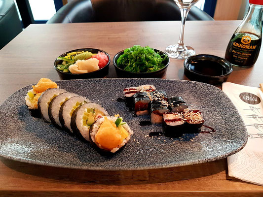 Abendessen im Restaurant Koku Sushi