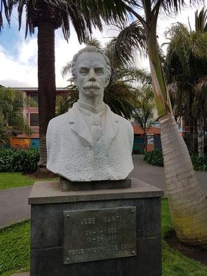 José Martí (kubanischer Nationalheld und Symbol für den Unabhängigkeitskampf des Landes) im Park von La Laguna