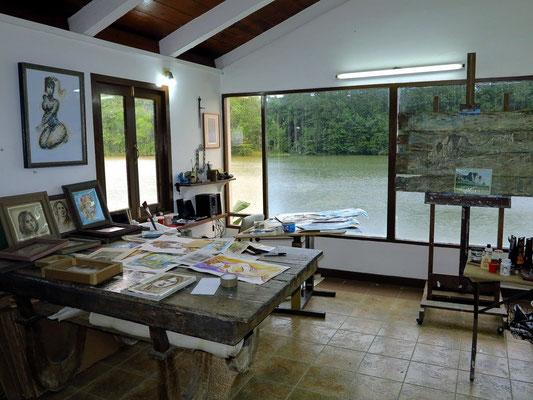 Im Atelier von Lester Campa