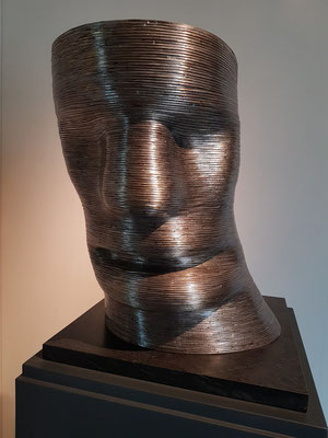 Martin Matschinsky, Kopf I, Messing und Zinn, 1974