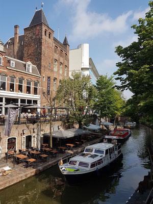 Stadtschloss Oudaen, eines der ersten Steingebäude in Utrecht, an der Oudegracht