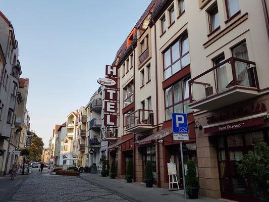 Straße Monte Cassino mit meinem Hotel Ottaviano