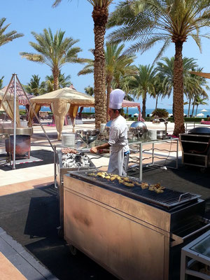 Shangri-La's Barr Al Jissah Resort & Spa, Vorbereitungen zum Lunch