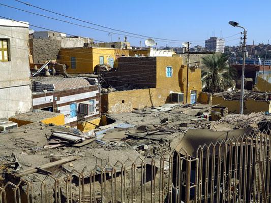 Elephantine. Nubisches Dorf, angrenzend an das Ausgrabungsgelände