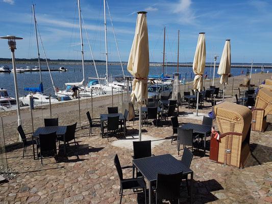 Hotel Speicher Barth, Terrasse am Hafen