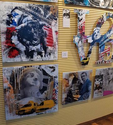 Devin Miles, Hamburg. Ikonen der Film- und Zeitgeschichte der 50er und 60er Jahre bestimmen die Motive des Wegbereiters der neuen Modern Pop Art in Deutschland.