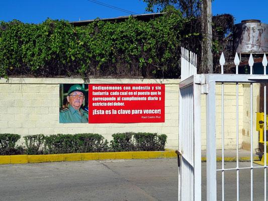 Heutiger kubanischer Präsident Raúl Castro