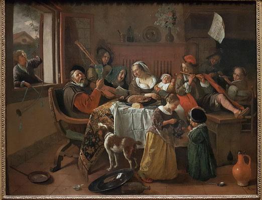 Jan Havicksz. Steen: Die fröhliche Familie, 1668